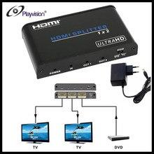 Playvision UHD HDMI 2.0 Splitter 1×2 1 Input 2 Output Repeater Switch Box Hub 1080p 4kx2k For Blu-ray PS3/4 DVD,EU Power Plug