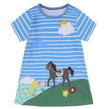 цены Baby Girl Dress Toddler Dresses for Girls Clothes 2019 Cotton Casual Princess Dress Unicorn Kids Dresses Easter Costume