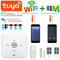 New Tuya Smart Wifi+GSM Wireless Smart Home Security Alarm System Compatible with Alexa Free Shipping
