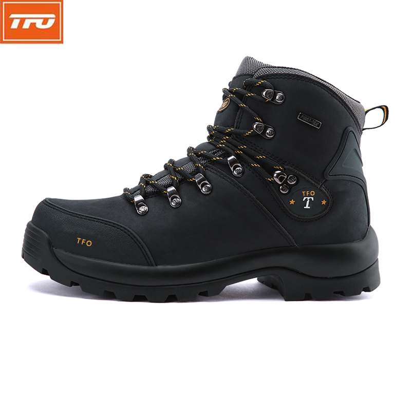 TFO Men Hiking Shoes Boots Camping Climbing Shoes Man Sneakers Breathable Mountain Walking Boots  Waterproof Shoes 8221316 tfo men hiking shoes outdoor sport shoes men climbing mountain sneakers trekking hunting fishing breathable waterproof man brand