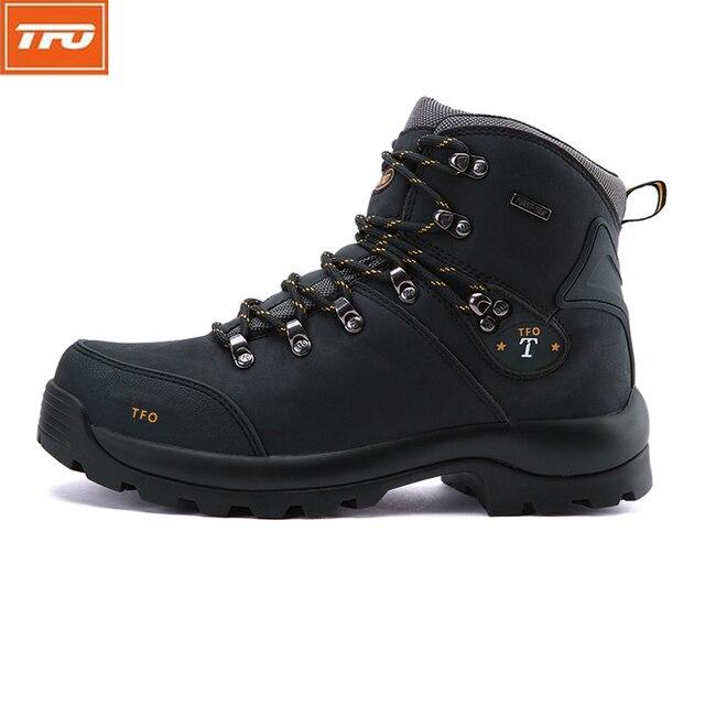 TFO hiking shoes man women mountain shoes Hiking Boots waterproof Genuine  leather shoes outdoor Climbing fishing 3558f4579