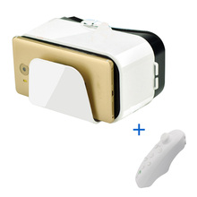 VR Glasses 3d Virtual Reality Goggles Google Cardboard Headset for Android Xiaomi Samsung Smartphone  Bluetooth Controllers