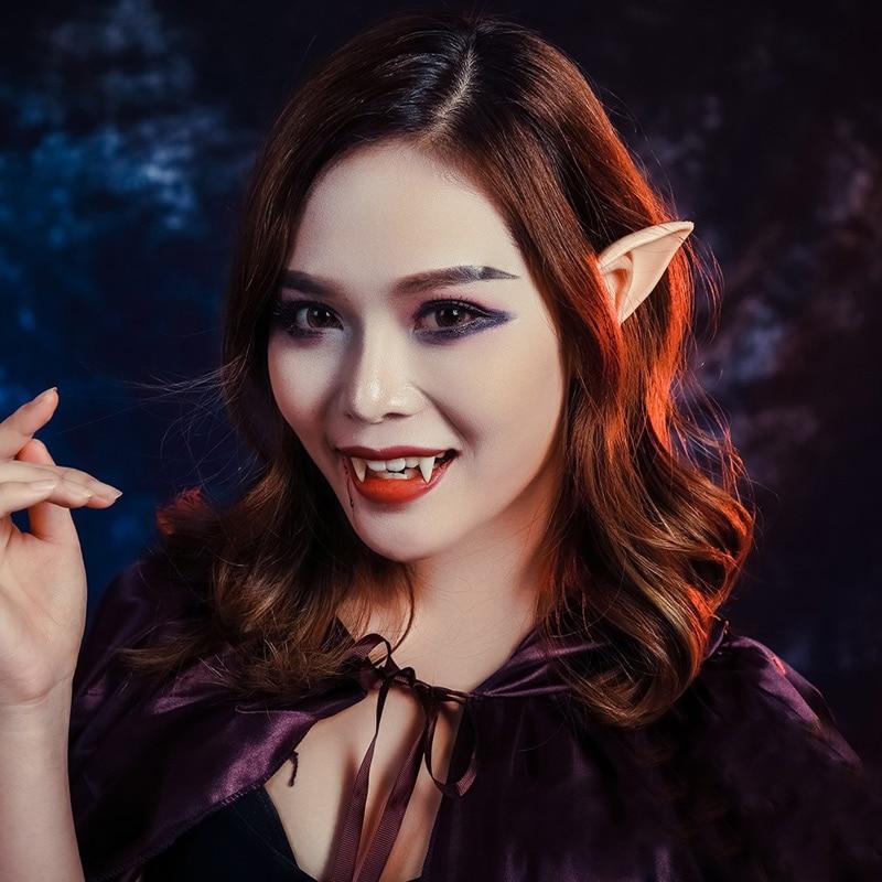 1 Pair Latex Elf Ears Cosplay Party Props Gift Halloween ...