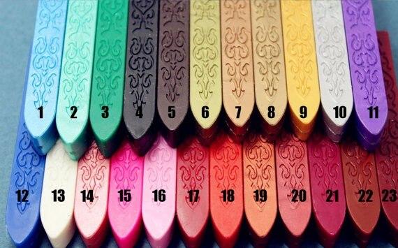 vara selo de cera, 23 cores disponíveis,
