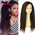 Hot Sale 100% Virgin Brazilian Kinky Straight Wig Unprocessed Glueless Full Lace Wig Human Hair Wig With Baby Hair Free Shipping