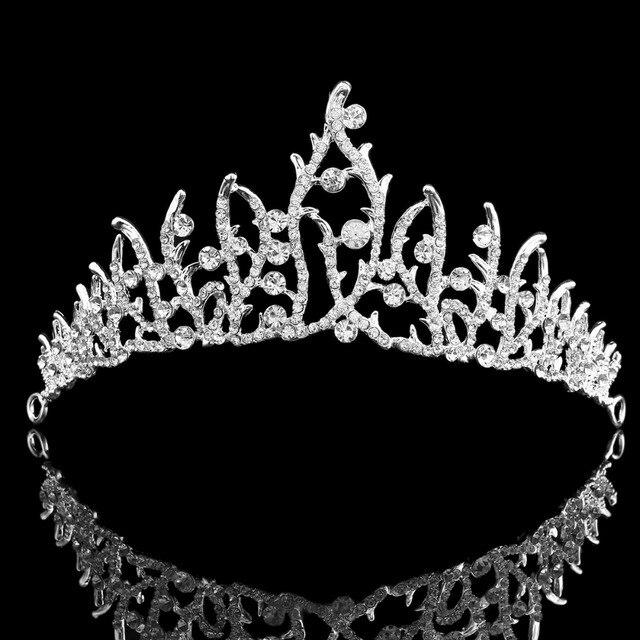 Fashion Beautiful Silver Color Metal Tiaras Wedding Pageant Tiara Headband  Full Crystal Crown For Bride Hair Jewelry HG00233 9865079deeae