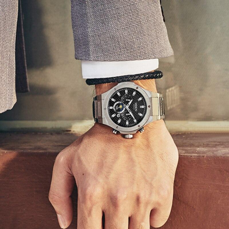 NESUN Hommes Mode Automatique Mécanique Montres 50 M Étanche En Acier Inoxydable De Luxe Marque Montres Horloge Relogio Masculino