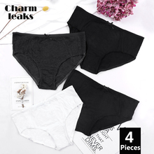 Charmleaks Womens Panties Bow-knot Underwear Hipster 4 Packs Cotton Soft Stretch Cozy Mid Waist Ladies High Quality Hot Sale