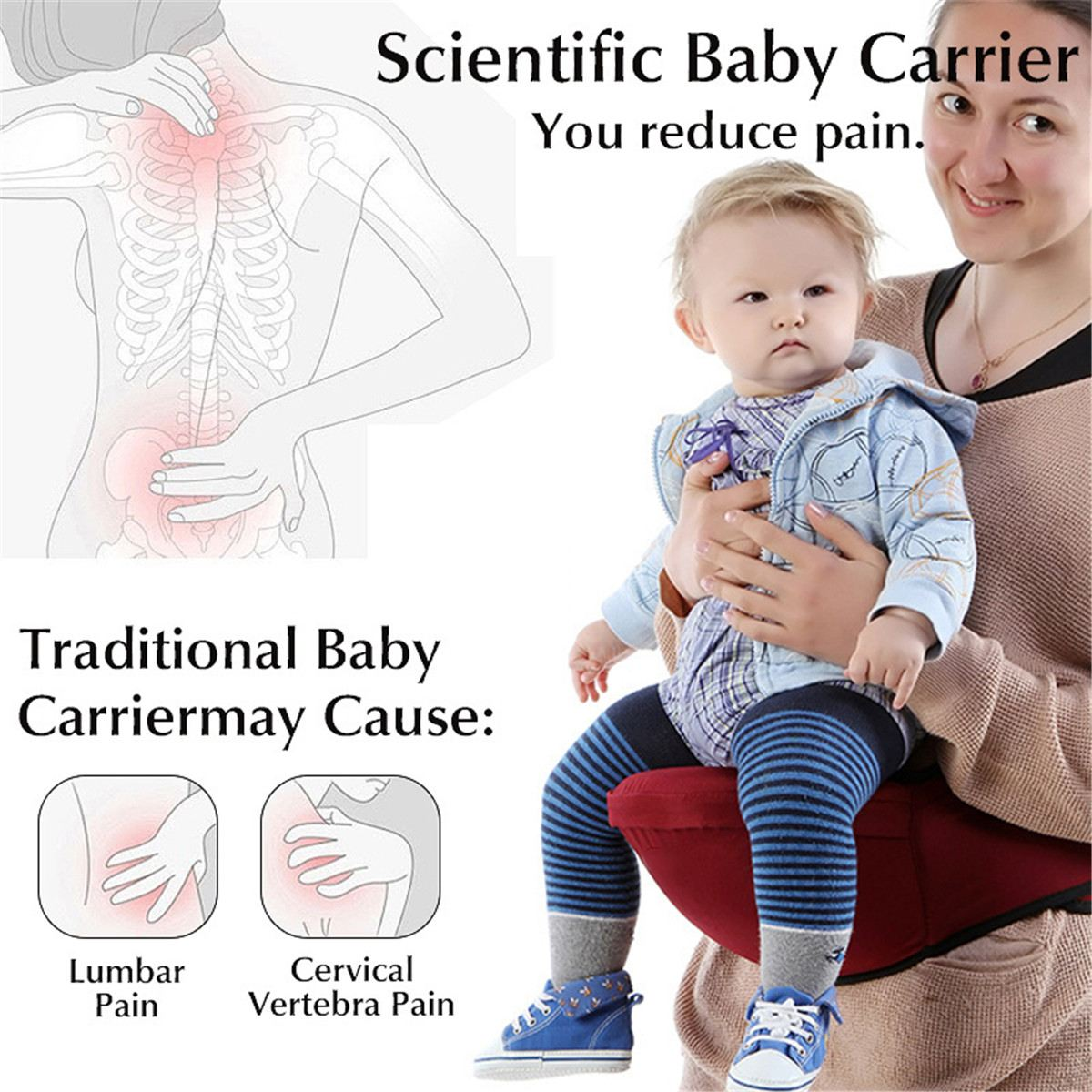 a70b12693b660 2018 New Baby Carrier Hold Waist Belt Baby Kids Infant Hip Seat Seat ...