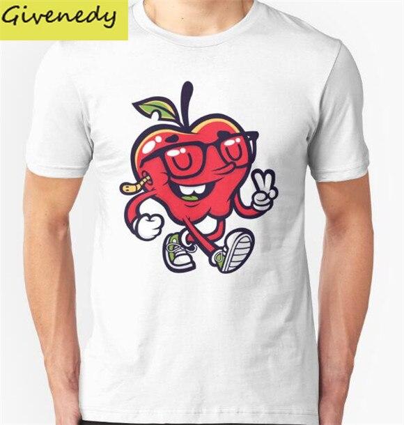 Apple Joy font b Mens b font Womens Summer Cotton Printing T font b Shirt b