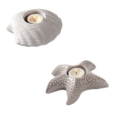 Starfish Shell Candlestick Silicone Mold Concrete Candle Holder Mould