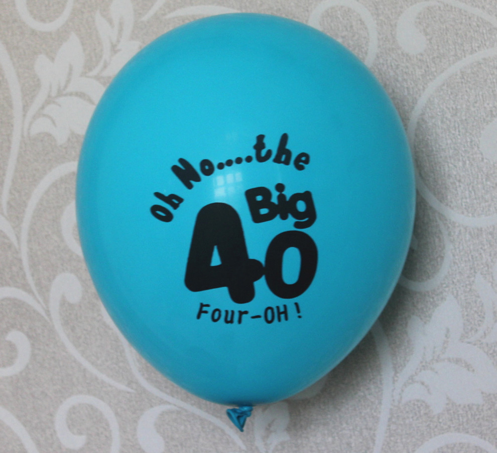 Male Men Happy 40th Birthday Party Decoration 10CT Blue Number 40 50 Latex Balloons 50th Birth Celebration Decorate In Ballons Accessories From Home