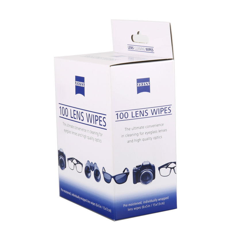 Zeiss Pre-Moistened Lens Cleaning Wipes - Cleans Without Streaks for Eyeglasses and Sunglasses - (100 Count) pre moistened zeiss anti fog cleans bacteria germs no steaks for mobile phone eyeglasses cloth camera cleaner lens wipes 200pcs