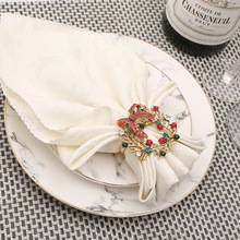 6PCS metal alloy napkin ring Christmas ornamentsn cloth