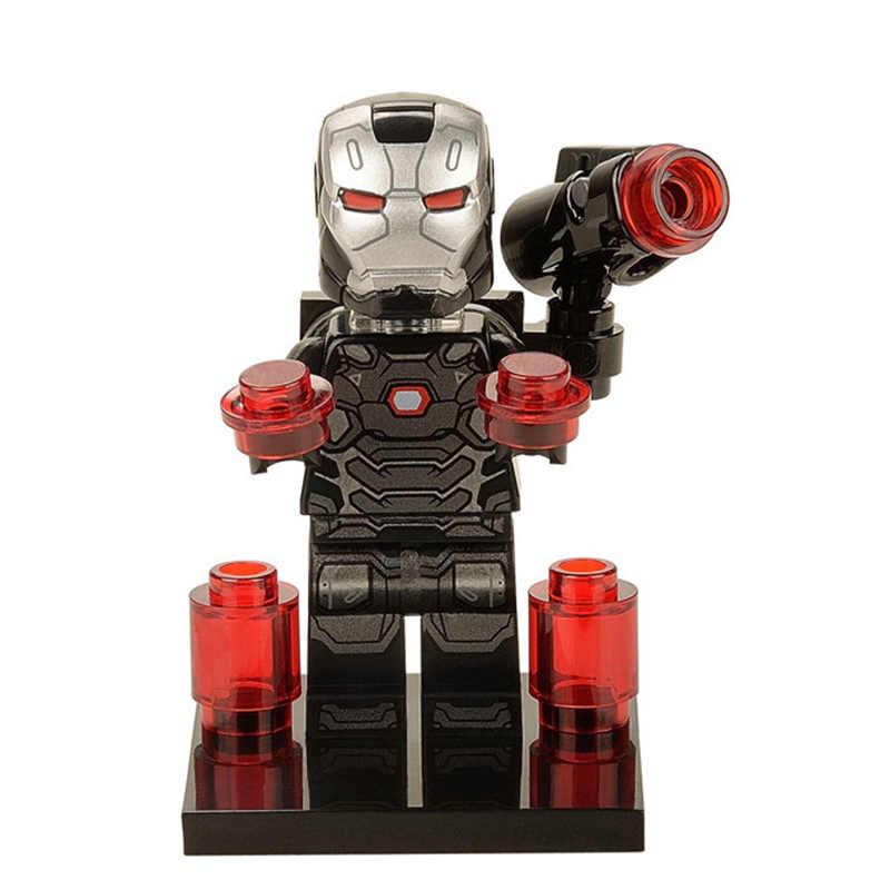 Pantera Negra superhéroes Hulk marvel Capitán América bloques de construcción juguetes para niños Spiderman Iron Man para legoing