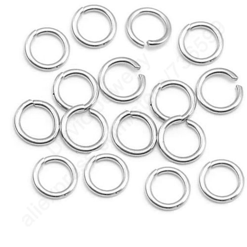 Free Fast Shipping 500PCS Lot 4MM Width 0.5MM DIY Jewelry Findings Opening Jump Ring 925 Sterling Silver Components Nice Made