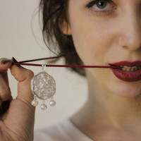 Locket Pendant Guizhou 999 Sterling Silver Pendant Handmade Miao Silver Jewelry Homemade Pendant Flower Pendant Necklace