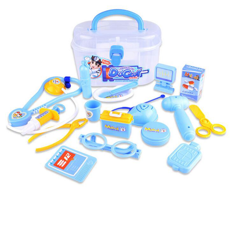 18pcs/Set Doctor Box Kids Pretend Play Toys Set Gift For Children Kids Medicine Box Role Play Educational Baby Childrens Toys