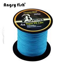 Angryfish оптовая продажа 300 м 4x плетеная леска 11 цветов супер PE леска