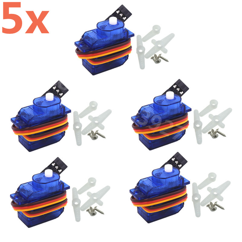 5pcs 5g SG-50 Micro Digital Servo With Plastic Gear SG50 For RC Car RC Airplane RC Helicopter RC Aeromodelling Boat image