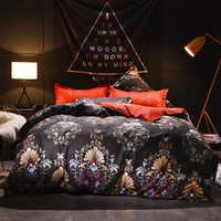 New Bedding Set 14 Size Pink Blue Elegant Flower Bed Linen 3/4pcs/Set Duvet Cover Set Bed Sheet AB Side Duvet Cover