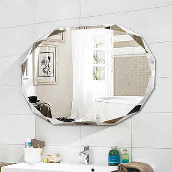 Simple frameless punch-free bathroom mirror wall-mounted lager bathroom toilet makeup dressing cosmetics mirror mx12281910 - DISCOUNT ITEM  0% OFF All Category