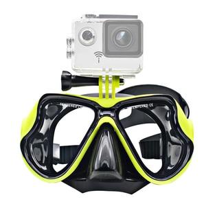 Image 3 - ססגוניות צלילה מסכת צלילה שנורקל שחייה Googgles מזג משקפיים לgopro גיבור 7 6 5 4 3 Xiaomi יי 4K SJCAM EKEN H9