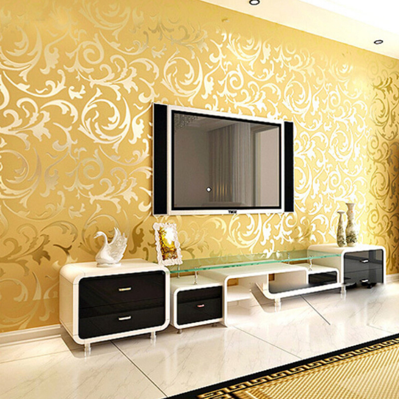 Online Shop Golden Silver PVC 3D Embossed TV Background Wallpaper Mural Wall  Covering For Living Room BeddeingRoom Decor Papel De Parde Roll |  Aliexpress ... Part 97