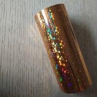Hot stamping foil lamina olografica stelle d'oro scintillante pressa a caldo su carta o plastica 16 cm x 120 m o 21 cm x 120 m