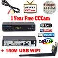 Freesat V7 MAX DVB-S2 Приемник Спутникового ТЕЛЕВИДЕНИЯ PowerVu автоматический roll Biss Ключ Поддержка Youtube CCcam Newcamd Wi-Fi freesat V7 MAX