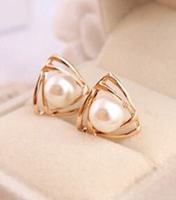 Korean jewelry sweet and romantic and lovely and generous temperament imitation pearl font b earrings b
