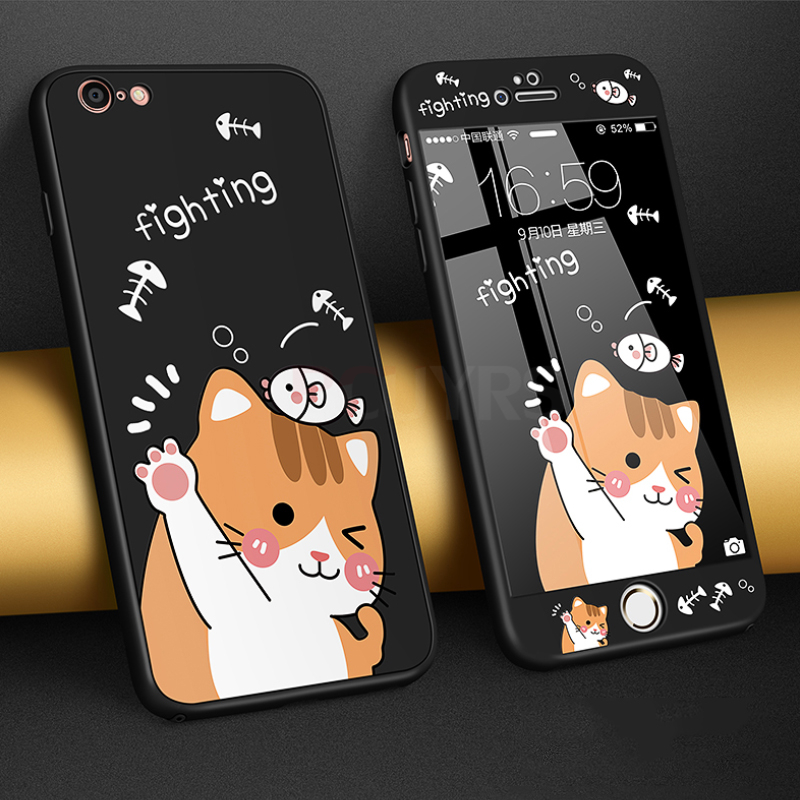 360 Full Degree Cover Soft TPU Phone Iphone 7 8 6 6S Plus Phone Cases For Iphone 7 8 Plus X Shockproof Cute Case
