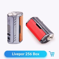 Livepor 256 Box Mod Yosta 256W Electronic Cigarette Mod with VW MECH TC NI TC TI TC SS TCR Mode Light Weight and Case Changeable