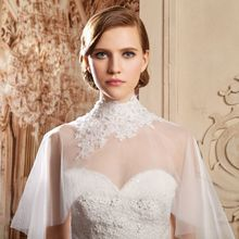2018 new lace Wedding jacket High Neck Bridal Wraps Bolero Coat Accessories