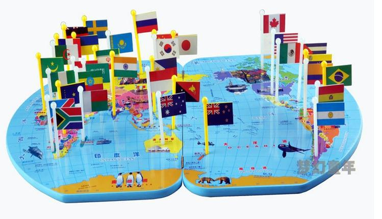 3d 36 National Flags World Map Big Size Flag Map Of World Toy High
