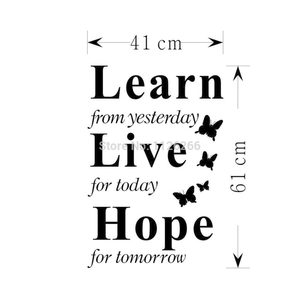 Quotes About Today Decoration Art Wall Decals Inspirational Quotes Learn From