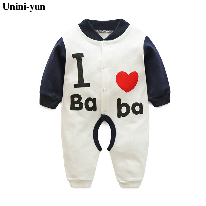 Newborn Baby Rompers Kids Clothing Fashion Autumn i love dad mom Cotton Infant Jumpsuit Long Sleeve Girls Boys Rompers Costumes baby clothing newborn baby rompers jumpsuits cotton infant long sleeve jumpsuit boys girls spring autumn wear romper clothes set