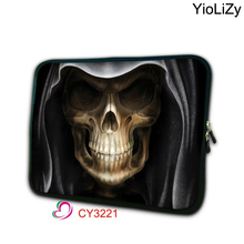 print Skeleton Laptop computer bag 17.three 17 15.6 15.four 15 14 13 13.three 11.6 10.1 9.7 7 inch laptop cowl pill bag pocket book pouch NS-3221