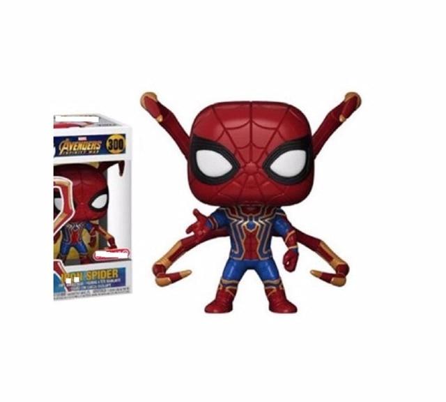 Versão Q Avengers Spider Man 300 # FigureToys spiderman PVC Coleção toy modelo para crianças combox