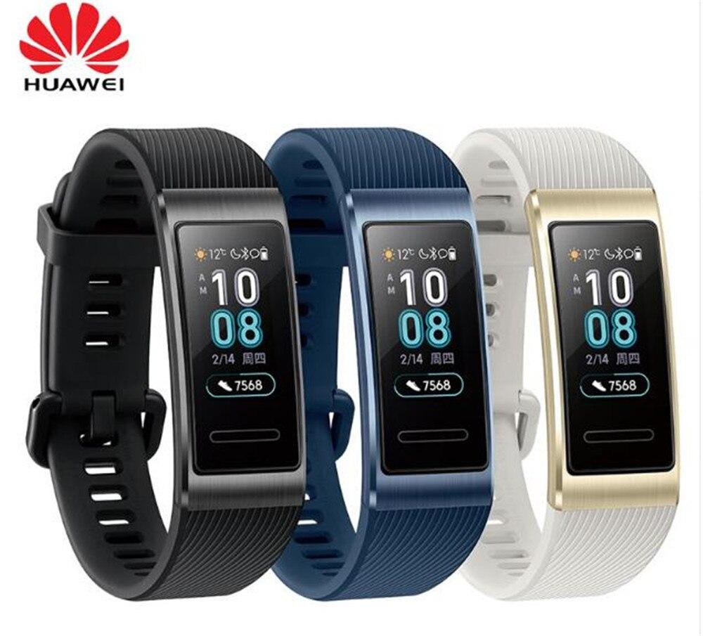 Original Huawei Band 3 Pro Smart Band GPS NFC Metal Frame Amoled Color Display Touchscreen Swim