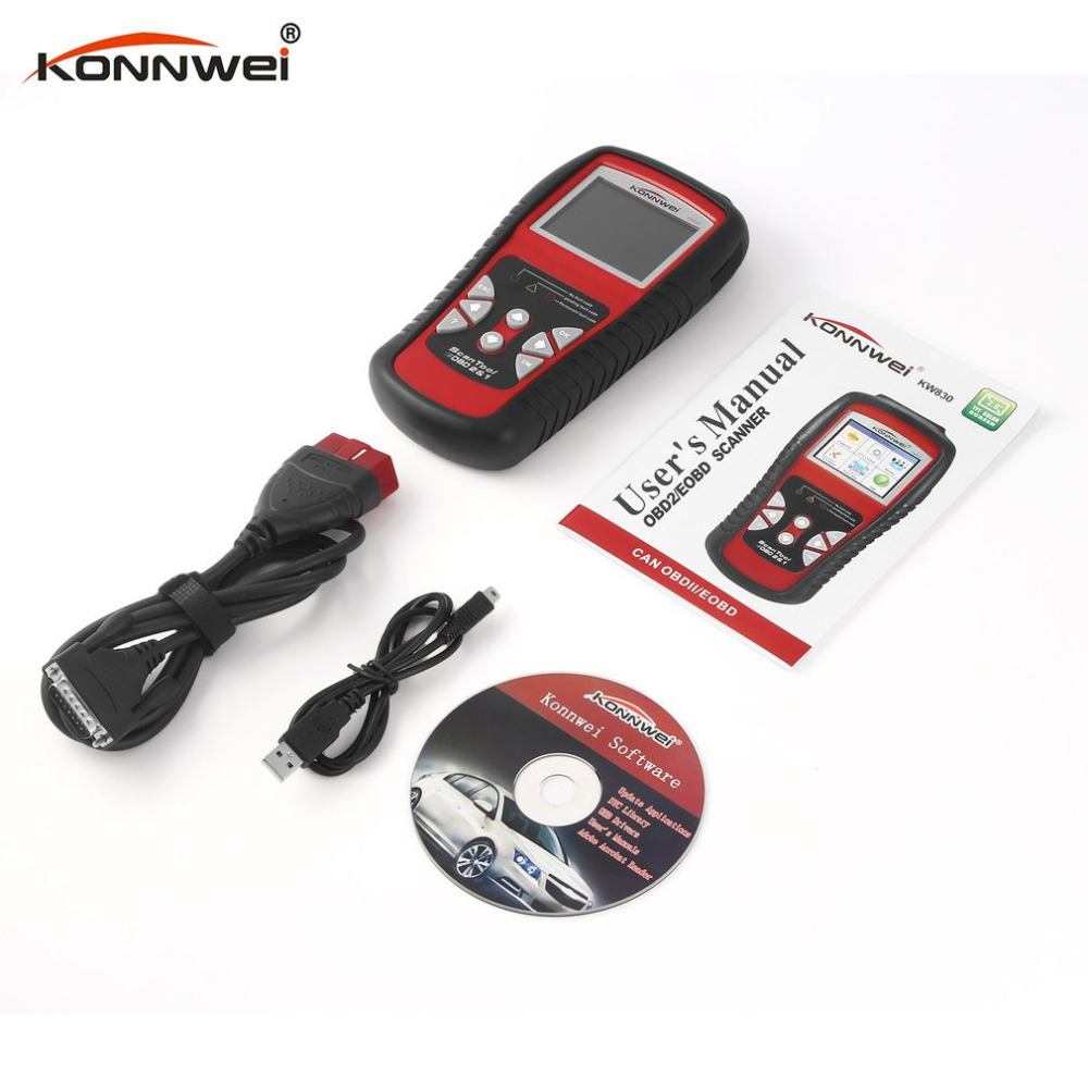 KONNWEI OBDII OBD2 EOBD Scan Tool Auto Scanner / Reader Auto Diagnostic Scanner for Reading and Clearing Vehicle Trouble Code autophix e scan es680 vag rpo obd scanner obdii code scanner