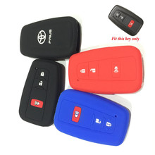 Silicone ruber Car Key Cover case for toyota Prius remote car key case 3 buttons