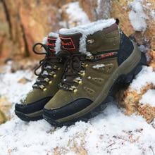 Break Out New Men Boots for Men Winter Snow Boots Warm Fur&Plush Lace Up High Top Fashion Men Shoes 45 46 47