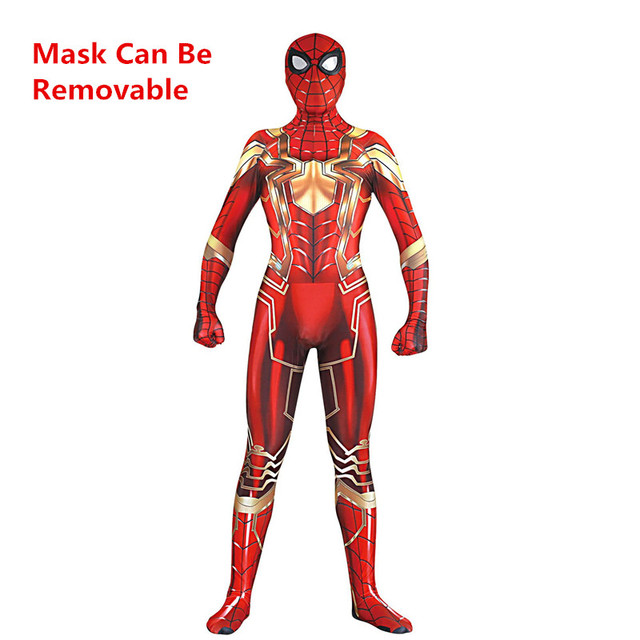 2018 New Design Spider-Man Homecoming Cosplay Costumes Superhero Zentai Steel Muscles Iron Spider Man Bodysuit Jumpsuits