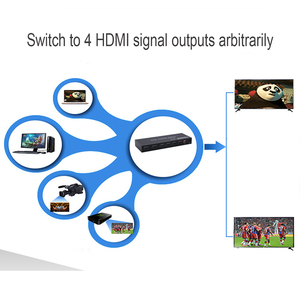 Image 5 - 2.0 HDMI מטריקס 4x2 4K @ 60Hz HDR מתג ספליטר 4 ב 2 מתוך YUV 4:4:4 אופטי SPDIF + 3.5mm שקע אודיו Extractor HDMI Switcher