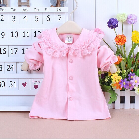 Girls Thin Cardigan Tops autumn Baby Girls Sweet Style Coat For 1-3Y Free Shipping