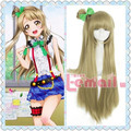 L-email wig Anime Love live Minami Kotori Women Cosplay Wigs 90cm Dark Blonde Long Straight Synthetic Hair peruca Cosplay Wigs