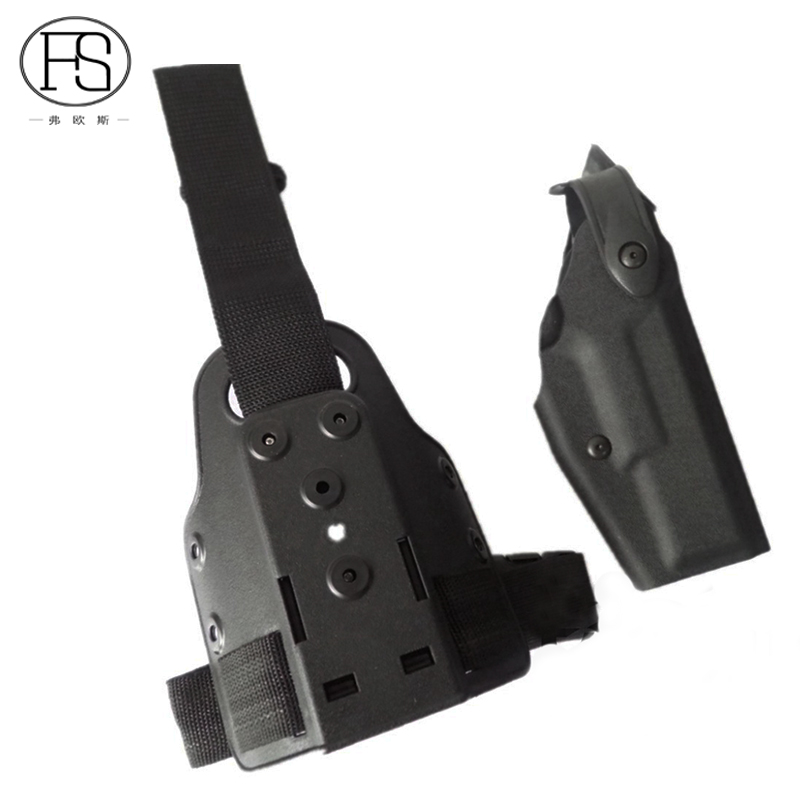 Tactical Safariland Glock Pistol Leg Holster Glock 17  19 22 23 31 32 Military Airsoft Leg Holster Glock Gun Pouches Holsters
