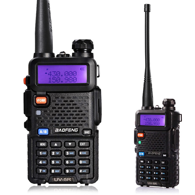 BaoFeng UV-5R talkie-walkie double bande VHF/UHF136-174Mhz et 400-520Mhz Radio bidirectionnelle tenue dans la main Baofeng uv5r
