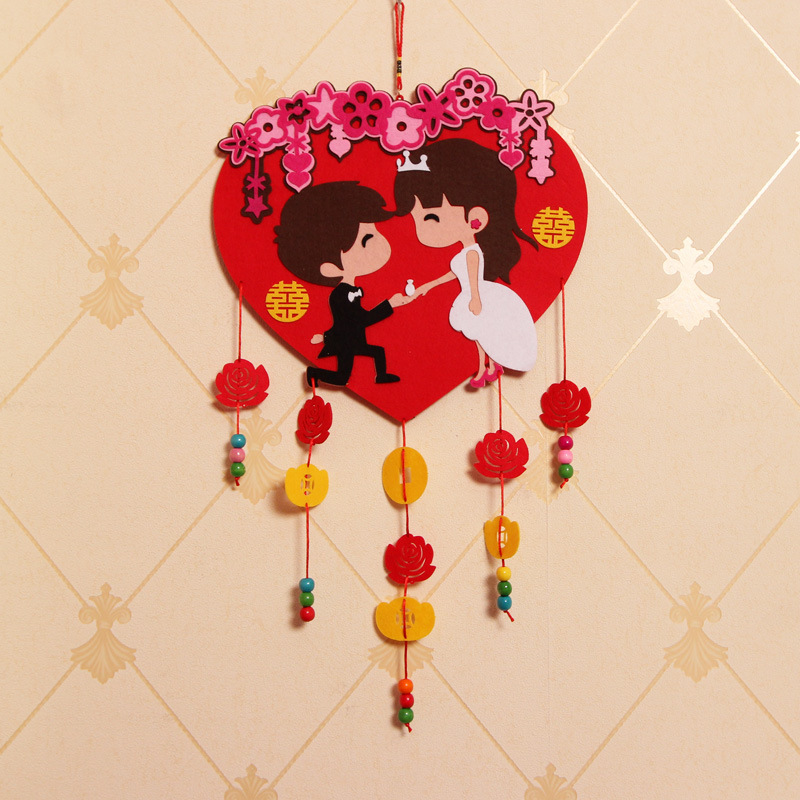 Lovely Wedding Party Bride&Bridegroom Room Decoration Chinese Style Cartoon Pendant Original Ornaments Fancy Wedding Supplies